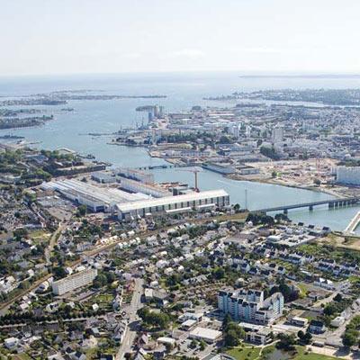 Lorient agglomération vu du ciel