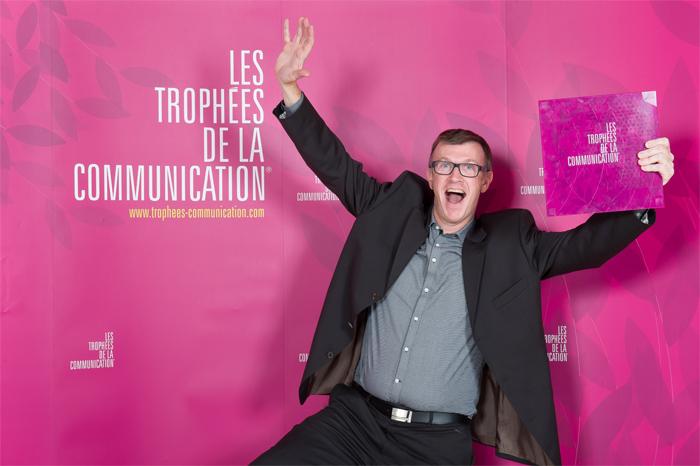 Loic CUEFF aux Trophées de la Communication 2014 !