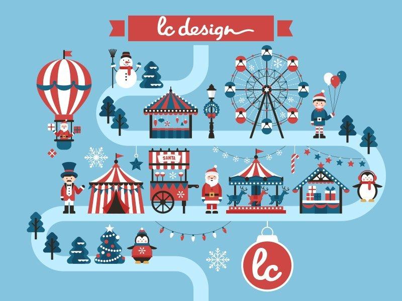 lc design vous souhaites un noël magique à Lorient