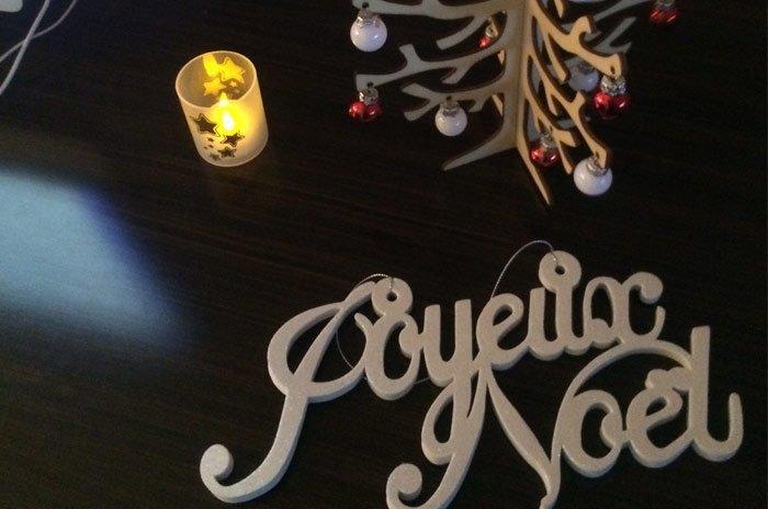 Nos bureaux décorés pour Noël !