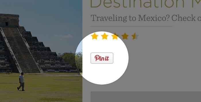 Bouton Pin-it Pinterest