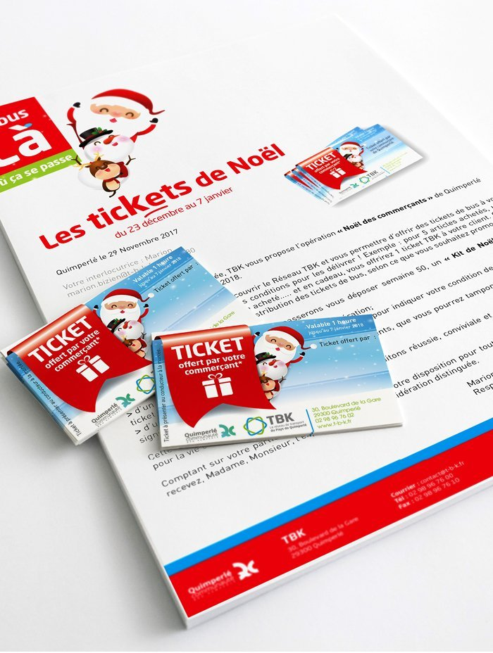 courrier noël TBK communication quimperlé