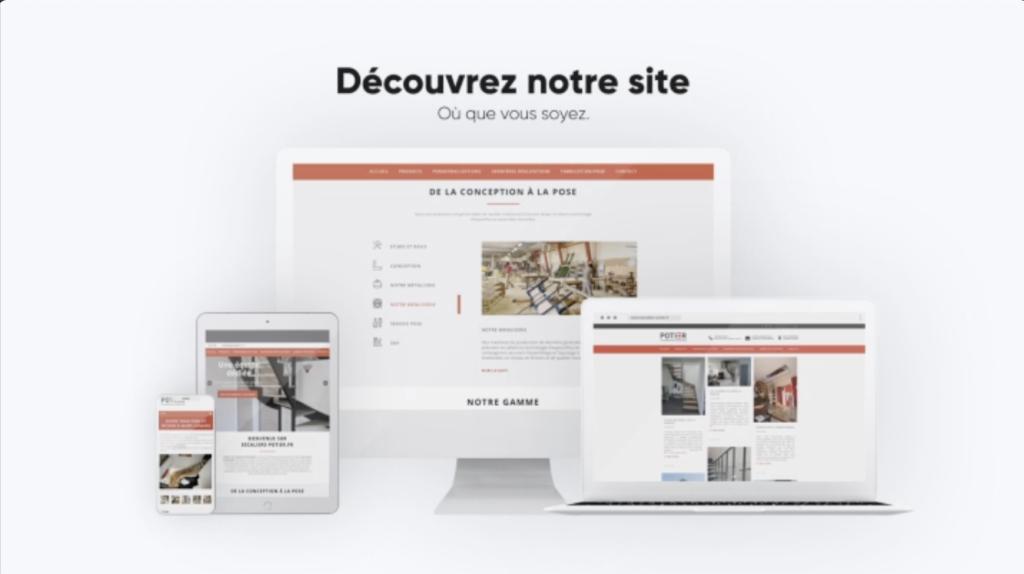 Site web Potier créateur d'escaliers