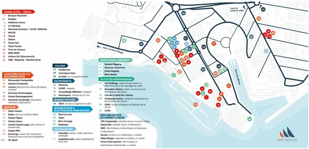 Carte Lorient La Base : Sailing Valley