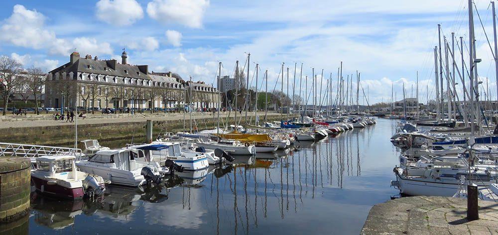Port de plaisance de Lorient, en Bretagne (France)